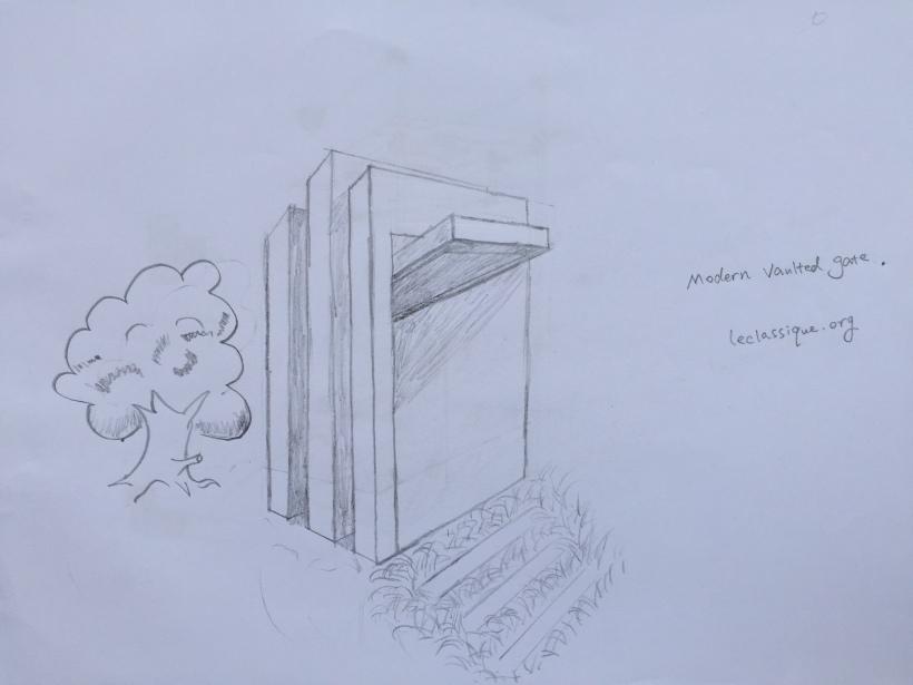 minimalist hotel gate design